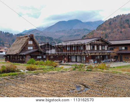 Gassho-Zukuri style house in Shirakawa-Go, Gifu prefecture, Japan.