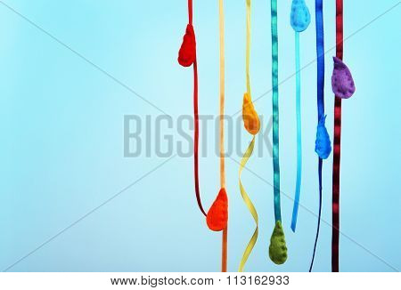 Fleeced drops on blue background