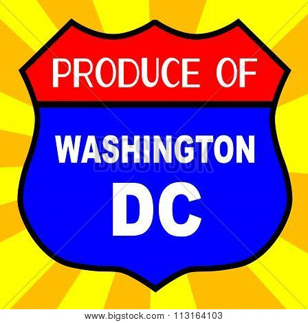 Produce Of Washington Dc Shield
