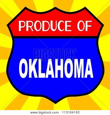Produce Of Oklahoma Shield