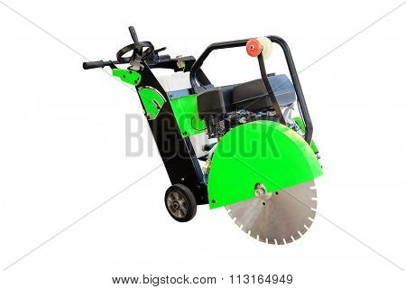 road repair machine isolated under the white background