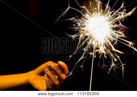 Sparkler In Hand Toning