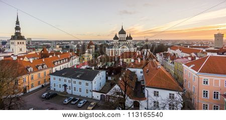 Tallin old city aerial view, Estonia