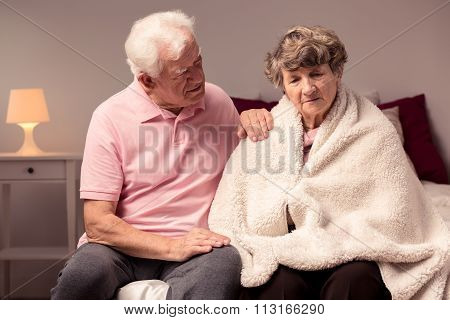 Man Helping Sad Wife
