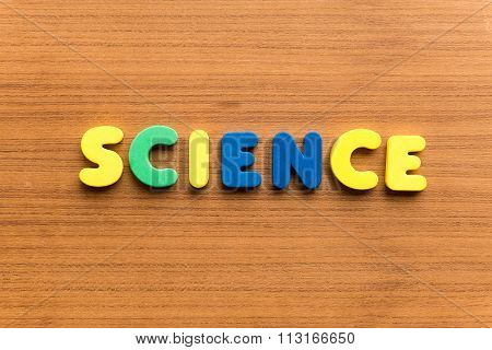 Science Colorful Word