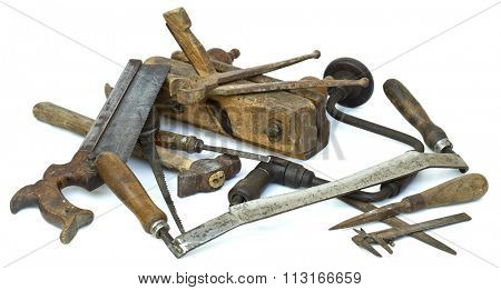 Collection of Carpenter Tools Pile