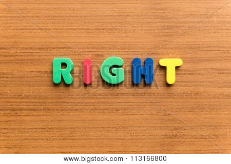 Right Colorful Word