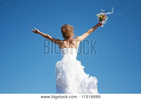 Happy Bride Meeting New Life