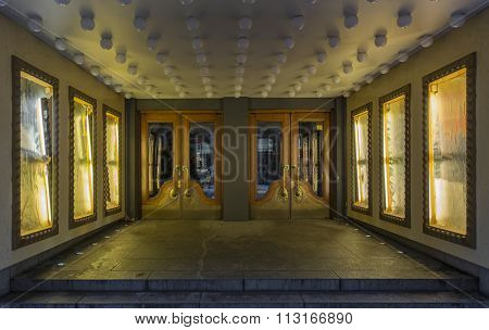 Old theater entrance