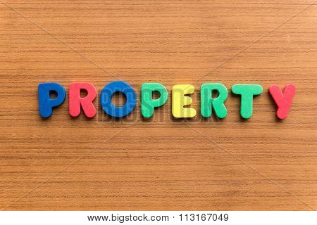 Property Colorful Word