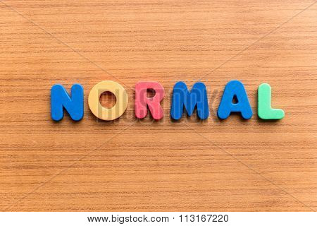 Normal  Colorful Word
