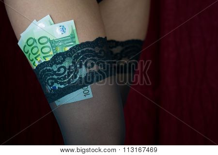 Money Into Thigh Highs Girl