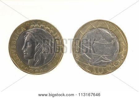 1000 Lira Italian Coin