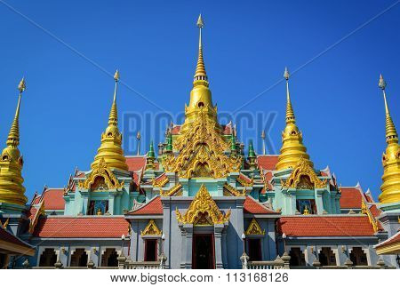 Beautiful Thai Temple In Huahin, Thailand