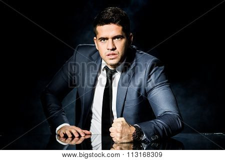 Boss Slamming Fist On Table