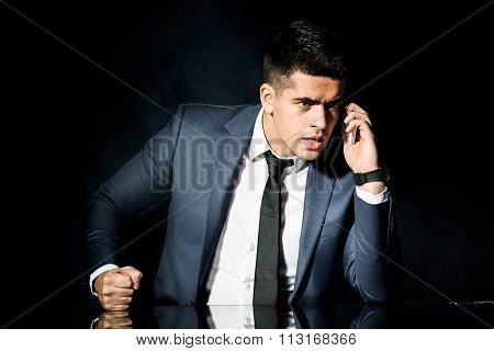 Angry Man During Business Call