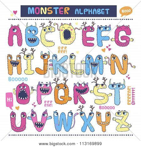 English monster alphabet.