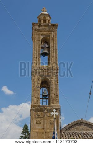 Bell Tower Of The Ancient Church In Nicosia, Cyprus.