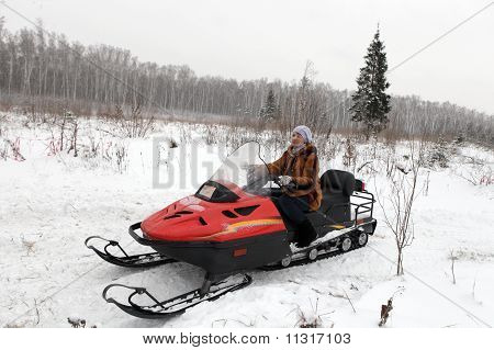Woman Has Winter Vacation