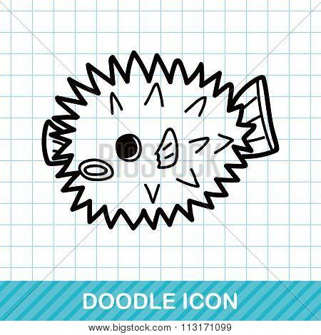 Sea Animal Puffer Doodle