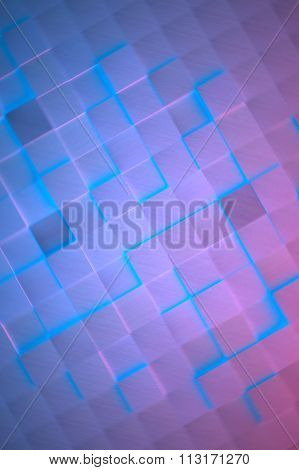 Futuristic Glowing Metal Cubes Background