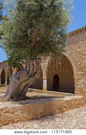 Archway In The Ayia Napa Monastery, Cyprus.