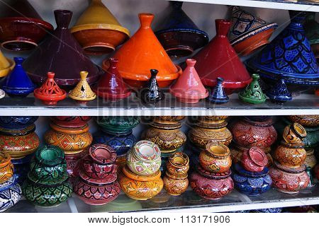 Handmade tajine from Morocco.