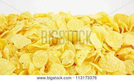 The tasty golden corn flakes