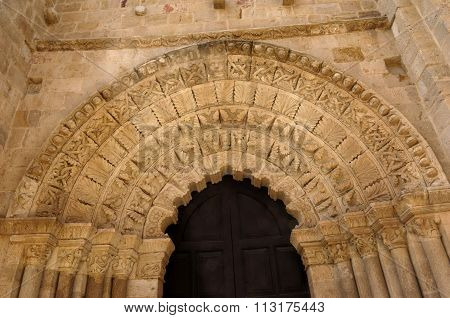 Door Of  Cathedral, Zamora, Castilla Y Leon, Spain