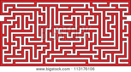 Vector Illustration of Panoramic Maze