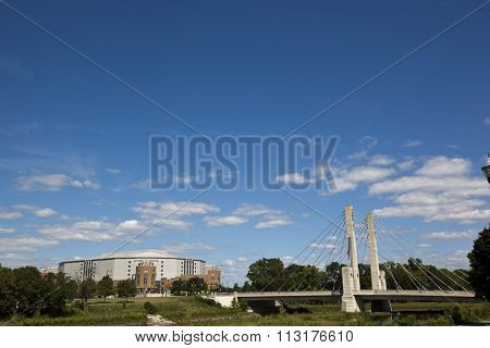 The Lane Avenue Bridge is a landmark in the Columbus, Ohio area.