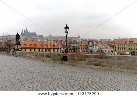 Prague Castle View From The Charles Bridge