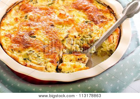 Cabbage And Chicken Bake