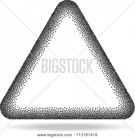 Star Stipple Effect Vector Illustration