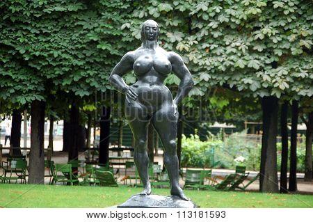 'standing woman' in Tuileries garden,Paris,France.