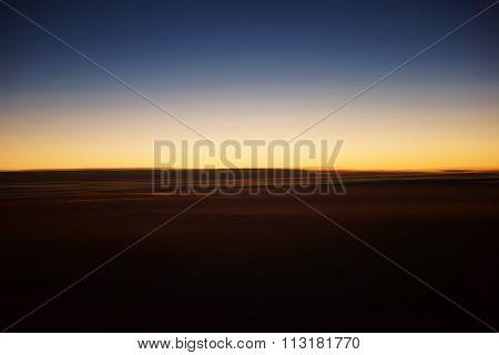 Sunset on altitude