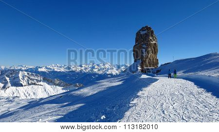 Quille Du Diable, Famous Rock In The Swiss Alps