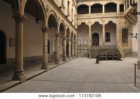 Cloister At The Palace Of La Salina,  Diputacion, Salamanca,