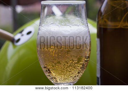 Glass Of Foamy Beer