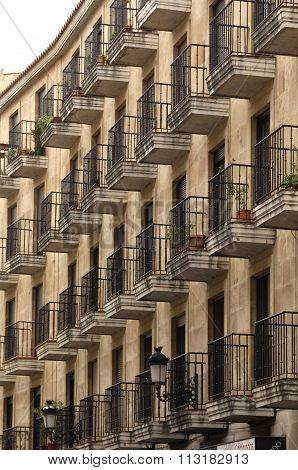 Building With forged Iron Balconies,