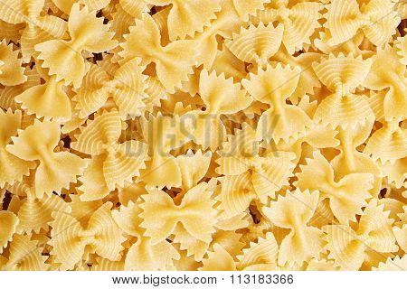 Pasta Bow-tie. Food Background.