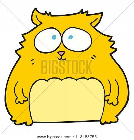 freehand drawn cartoon cat