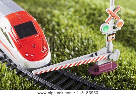 Toy Train Stopped