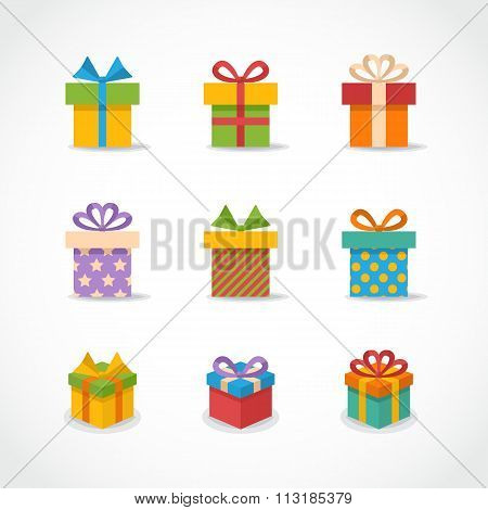 Vector Gift box colorful icons