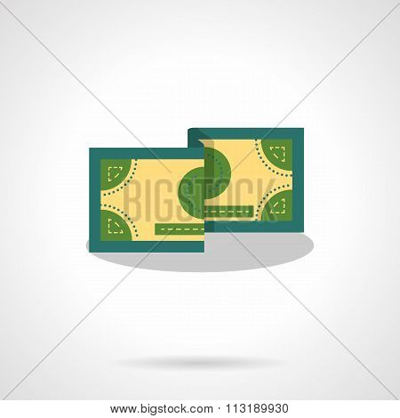 Money bill flat color vector icon