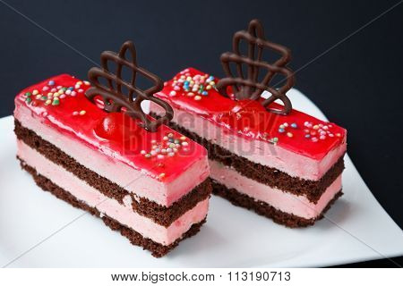 Sweet Colorful Desserts On A Black Background