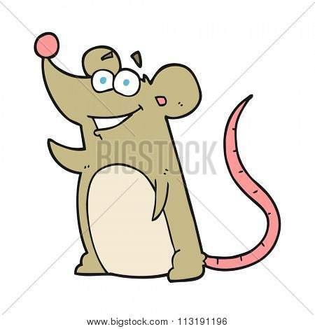 freehand drawn cartoon mouse