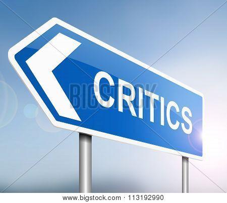 Critics Sign Concept.