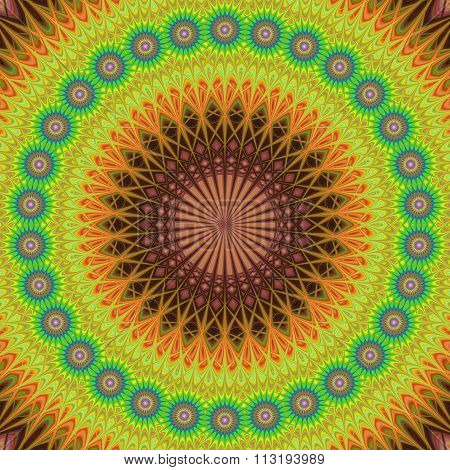 Oriental style floral mandala design background