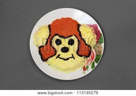 Dish With Monkey